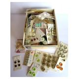 buttons and sewing items