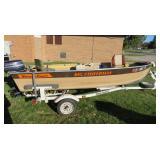 Smokercraft, 30 hp Evinrude, trailer, trolling motor