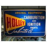 Rare Holley Carburetion two sided sign
