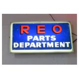 REO Parts light up sign