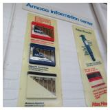Amoco molded plastic information signs