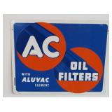metal AC oil filter sign