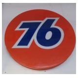 Molded plastic 76 gasoline sign