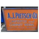 wood advertising sign