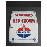 enamel Standard Red Crown sign