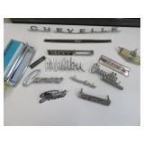 Chevrolet auto emblems and script