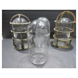 glass light covers and cages