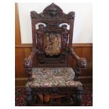 figural carved chair