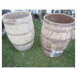 Another Pair of Whiskey Barrels