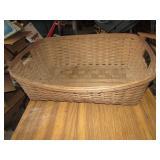 Large Split Oak Laundry Basket