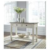 Ashley t637-4 Solid Wood 2 Drawer Sofa Table