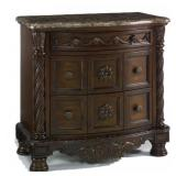 Ashley North Shore Marble Top Night Stand