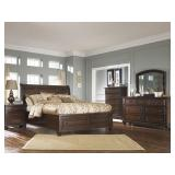 Ashley Porter 5 pc King Sleigh Bedroom Suite