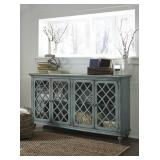 "Ashley T505-762 Antique Teal 68"" Cabinet"
