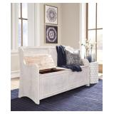 Ashley A3000199 Large Antique White Storage Bench