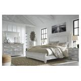 King - Ashley B777 Kanwyn White 5 pc Bedroom Suite