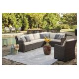 Ashley P455 Outdoor Sectional w/Matching Chair