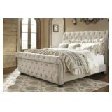 Queen - Ashley B643 Large Designer Sleigh Bed