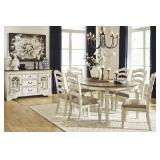 Ashley D743 Realyn Oval Table & 6 Chairs