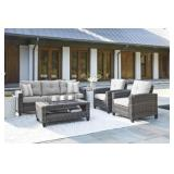 Ashley P334 Colverbrook 4 pc Outdoor Living Set