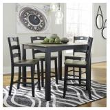 Ashley D338 5 pc Counter Table & 4 Bar Stools