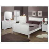 Queen Austin Furniture 5 pc White Sleigh Bedroom