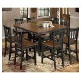 Ashley D580 Counter Height Table & 6 Bar Stools