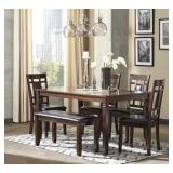 Ashley D384-325 Bennox 6 pc Dining Room Suite
