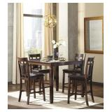 Ashley D384 Bennox 5 pc Counter Height Dining Set