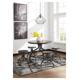 Ashley D284-223 ADJ Height Table & 4 Chairs