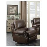Elements Saddle Leather PWR Rocking Recliner