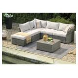 Ashley P301-070 Outdoor Sectional w/Ottoman