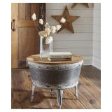 Ashley A4000209 Galvanized Storage Coffee Table