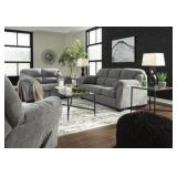 Ashley 28105 Allmax Pewter Sofa & Love Seat