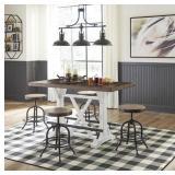 Ashley D546 Valebeck Counter Table & 4 Stools