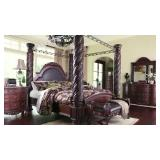 Ashley North Shore 5 pc King Poster Bedroom Suite