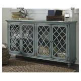 """Ashley t505-762 Antique Teal 68"""" Accent Cabinet"""