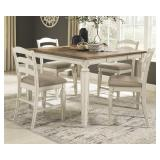 Ashley D743 Raelyn Counter Table & 4 Bar Stools