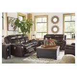 Ashley U336 Leather DBL REC Sofa & Love Seat