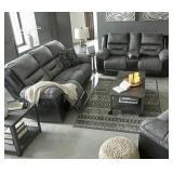 Ashley 29102 Earhart DBL REC Sofa & Love Seat