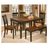 Ashley D580 Owingsville Table & 4 + Bench