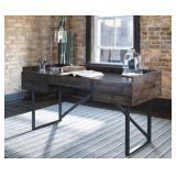 """Ashley H633 - Modern Industrial 63"""" Desk"""
