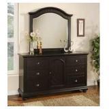 Elements Brook Black Dresser & Mirror