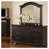 Elements Brooke Black Dresser & Mirror