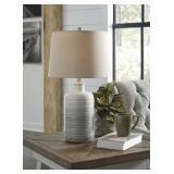 "Ashley L121854 Marnina Taupe 25"" Designer Lamp"