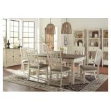 Ashley D647 Bolanburg Table & 6 Dining Chairs