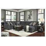 Ashley 72600 Tracling Slate 3 pc Sectional Sofa