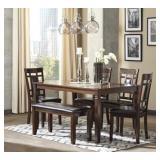 Ashley D384-325 Bennox 6 pc Dining Room Suite