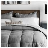 Over Sized Queen Woven Chambray Comforter Set