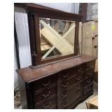 Lg Cherry Dresser and Mirror